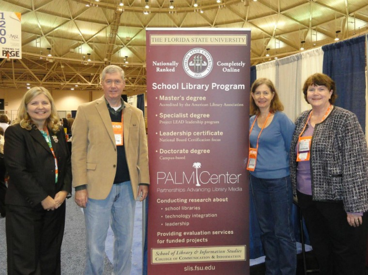 Drs. Everhart, Latham, Gross, and Swaine at the American Association of School Librarians conference in Minneapolis.